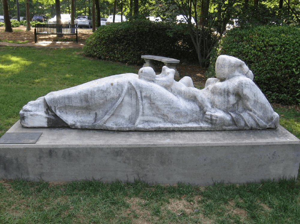 Reclining Mother and Child By Steffen Thomas, c. 1960 (Given in 1972)