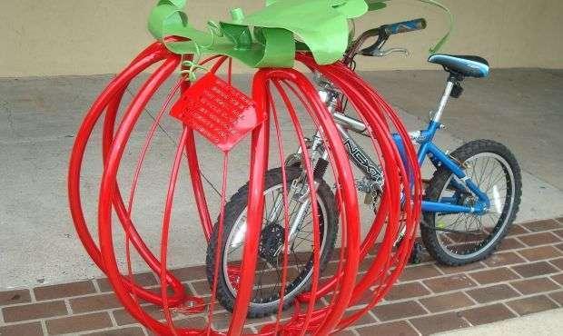 Tomato Bike Rack